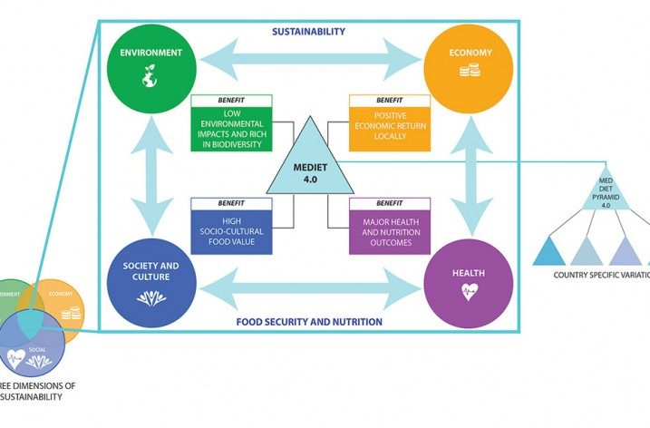 Pubblicata la nuova Med Diet 4.0, la Dieta Mediterranea IFMeD con 4 benefici 'sostenibili'