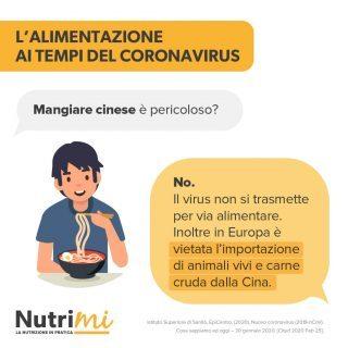 L'alimentazione ai tempi del coronavirus