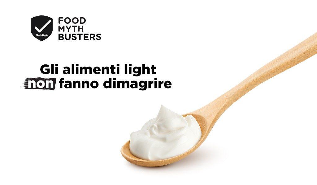 Gli alimenti light non fanno dimagrire