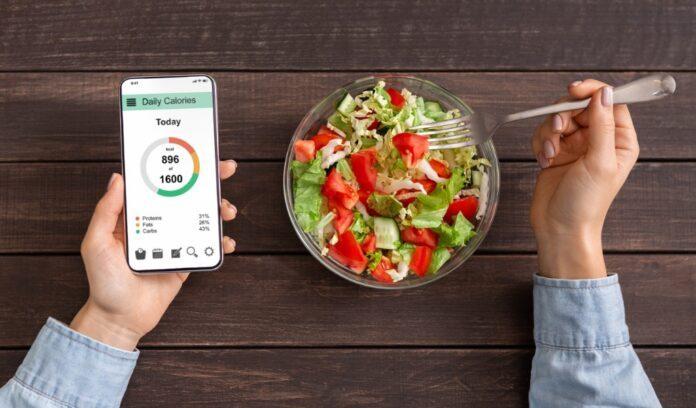 piatto insalata telefono app contacalorie