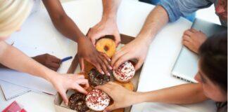 vassoio di donuts
